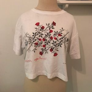 Urban Outfitters Cropped Graphic Tee